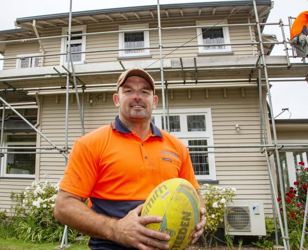 Working for his scaffolding company, Level Scaffolding, is keeping former Warriors player Corey...