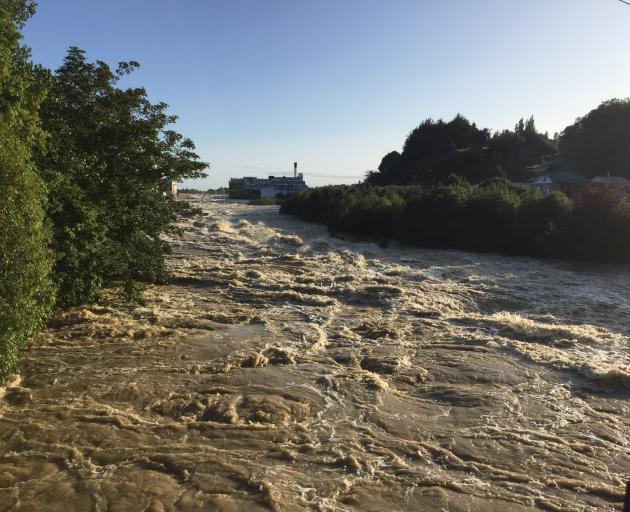 The Mataura River in Mataura this morning. Photo: Luisa Girao