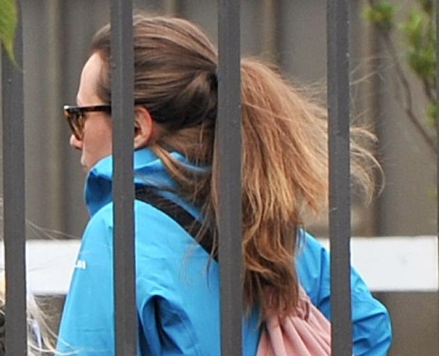 Melanie Giesinger (28) after she appeared before the Dunedin District Court. Photo: Christine O...