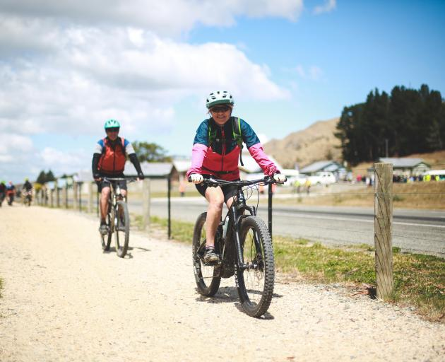 Julie Familton, of Oamaru, was one of the first cyclists to try out the new section.