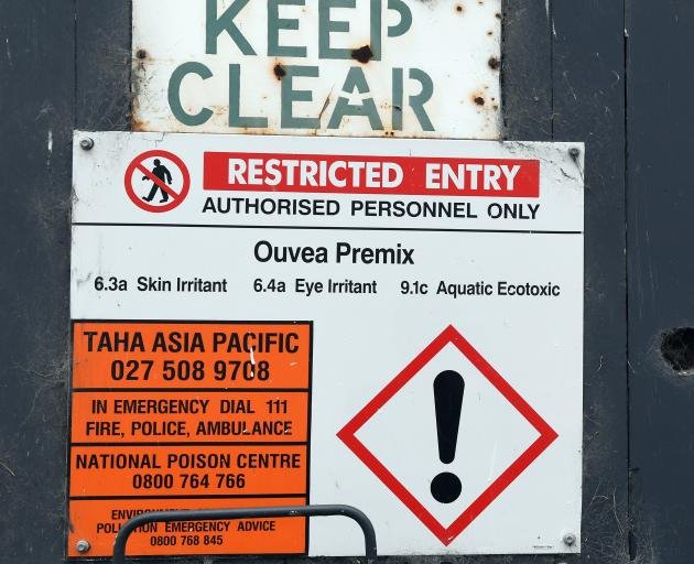 A sign warning of hazardous ouvea. PHOTO: STEPHEN JAQUIERY