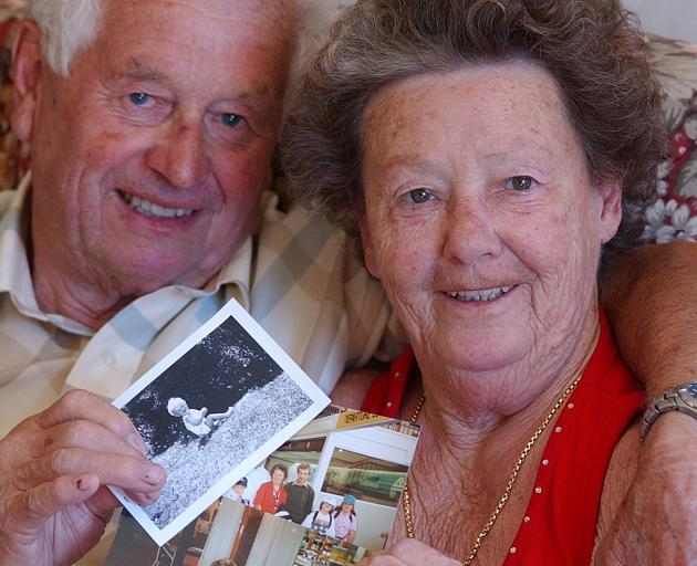George and the late Betty Pridding, pictured in 2003, share memories of better times with their...