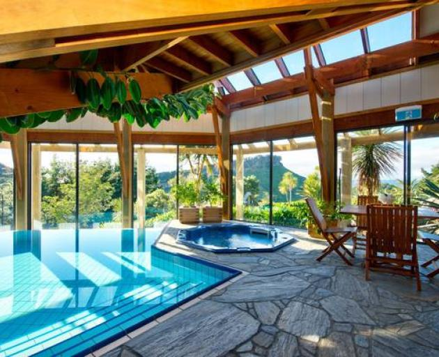 Westhaven Retreat includes a 24-metre indoor heated swimming pool, sauna, yoga studio, library...