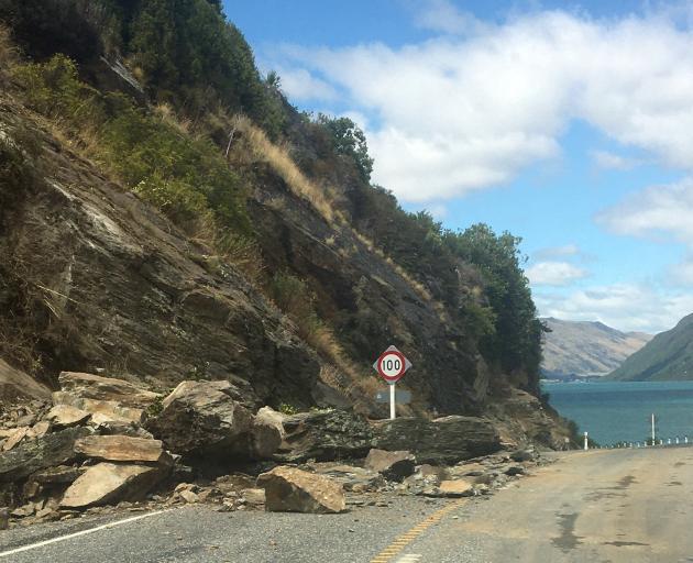 A slip on State Highway 6. Photo: NZTA