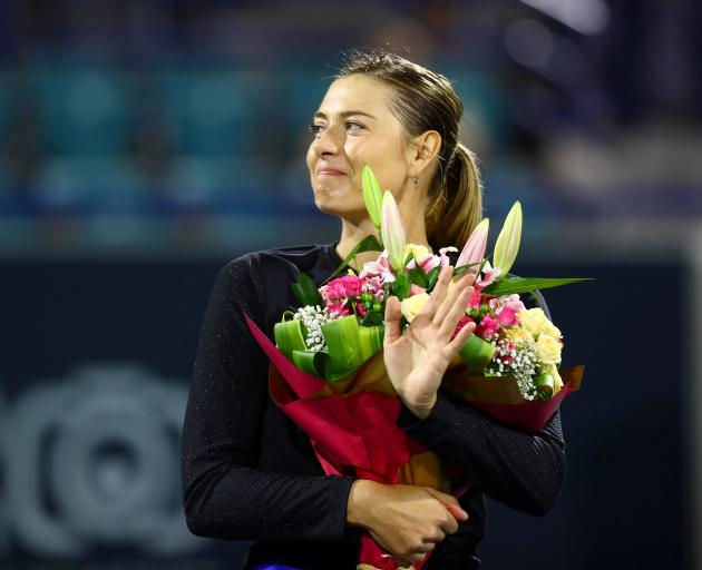 Russia's Maria Sharapova after her match against Australia's Ajla Tomljanovic in 2019. Photo:...