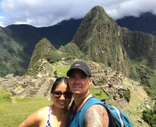 Tane Roderick, 42, and his wife Sandy Bustos first met in 2015. Photo: Supplied.