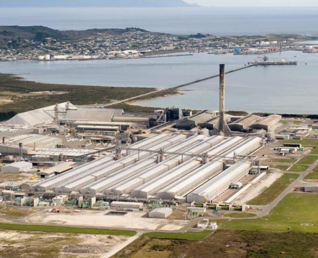 Rio Tinto is carrying out a strategic review of the Southland aluminium smelter. Photo: ODT files