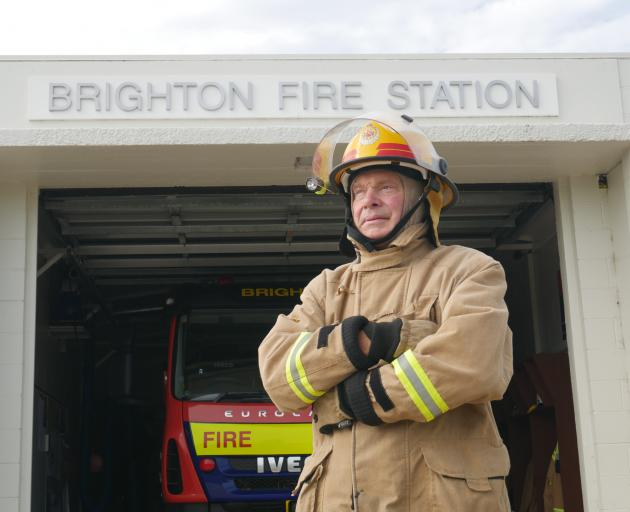 """Volunteer firefighter Colin Astle: """"'You look after your buddy and he looks after you.'' PHOTO:..."""