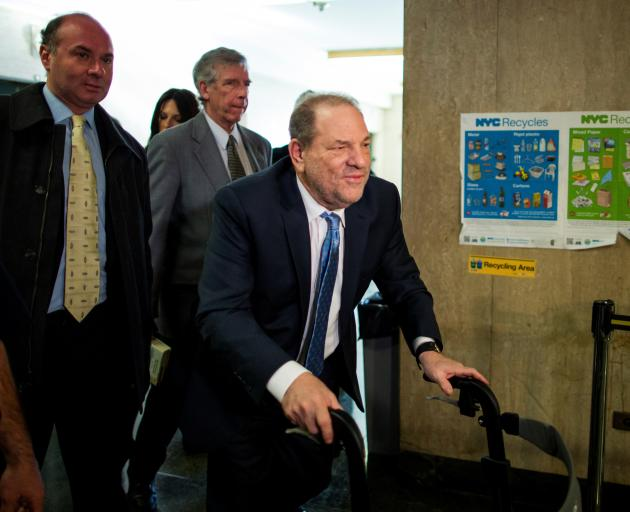 Harvey Weinstein arriving at court on Monday. Photo: Reuters