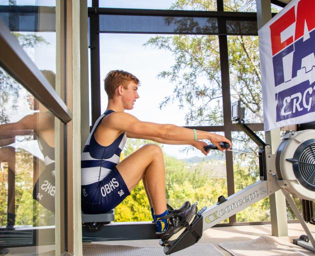 Reuben Cook on his way to a national record on Sunday. PHOTO: SUPPLIED