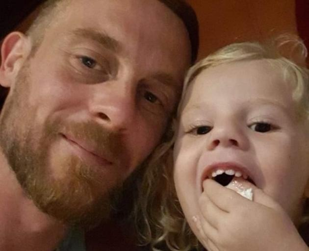 Nicholas Holmes and daughter Eva, 3, in Saint-Laurent-du-Maroni, French Guiana. Photo: Supplied