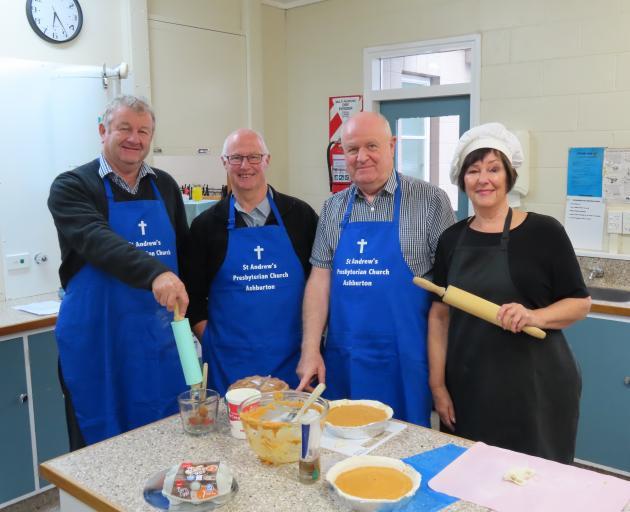 Celebrity chefs (from left) mayor Neil Brown, Pup Chamberlain, Bernard Egan and Susan Spencer...