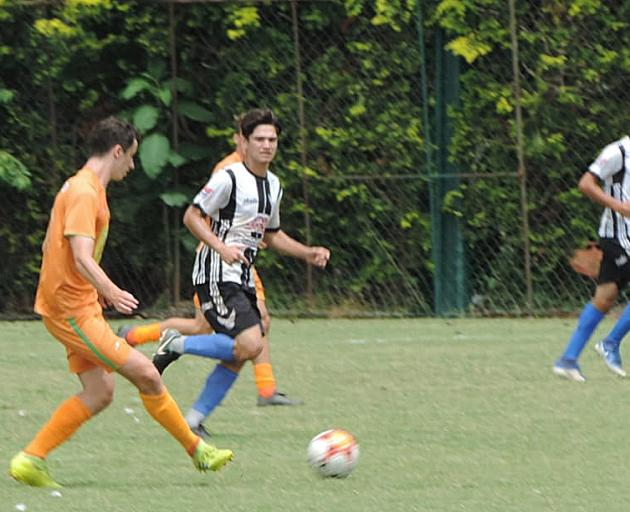 Ben Lund playing for the Brasilis FC side. PHOTO: SUPPLIED