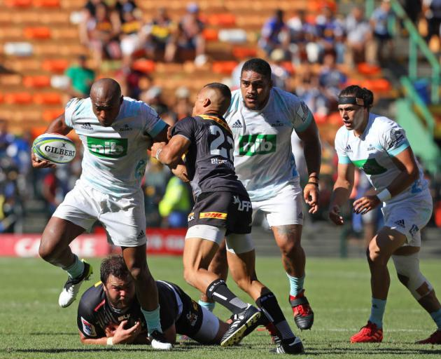 Mark Telea of Blues during the Super Rugby match between DHL Stormers and Blues in Cape Town. Photo: Getty Images