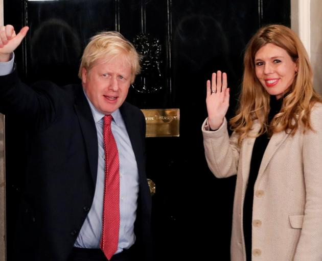 The couple have been living together in Downing Street since Johnson became prime minister in July. Photo: Reuters