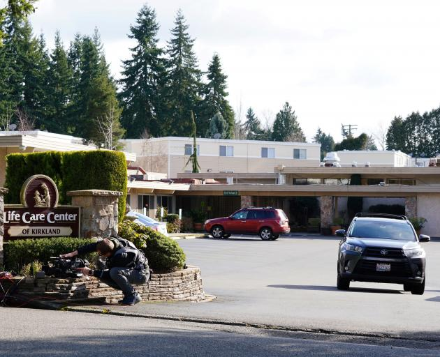 The Life Care Center of Kirkland where a number of seniors are at risk of novel coronavirus in Kirkland. Photo: Reuters