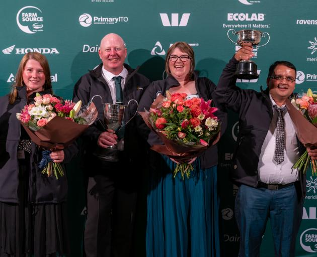 Celebrating their victories are (from left) Alexis Wells, Noel and Louise Rockell, and Krishna Dhakal. Photo: Supplied