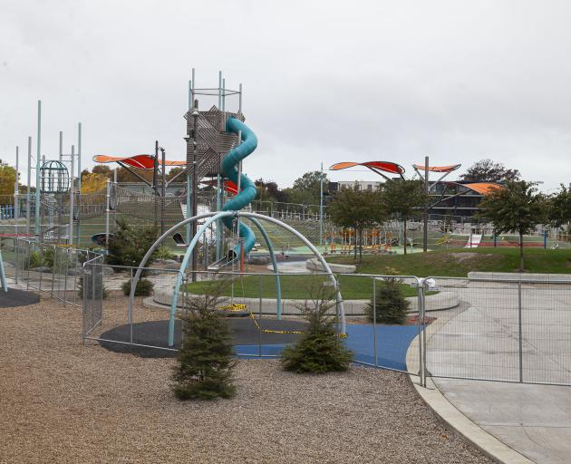 Margaret Mahy Family Playground is now fenced off.