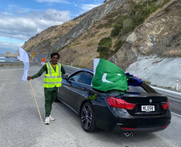 Rai with his Pakistan flag. Photo: Qaiser Rashid / Supplied