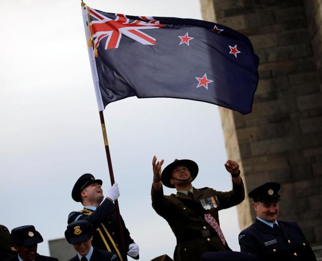 New Zealand soldiers at last year's commemorations at Anzac Cove. Photo: Reuters