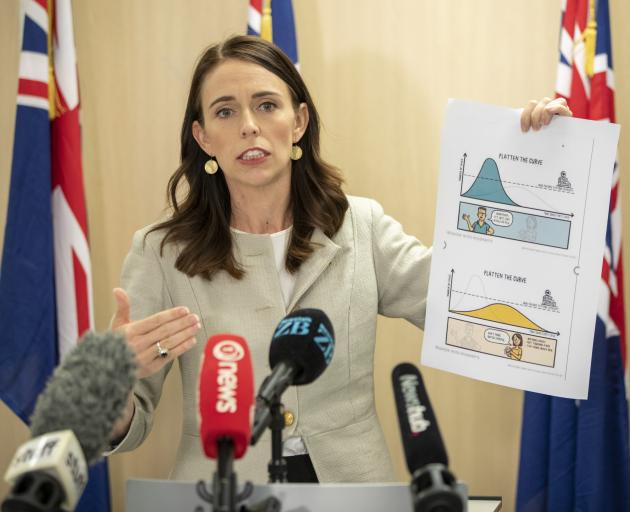 Prime Minister Jacinda Ardern announces the Government's latest moves to control the spread of...