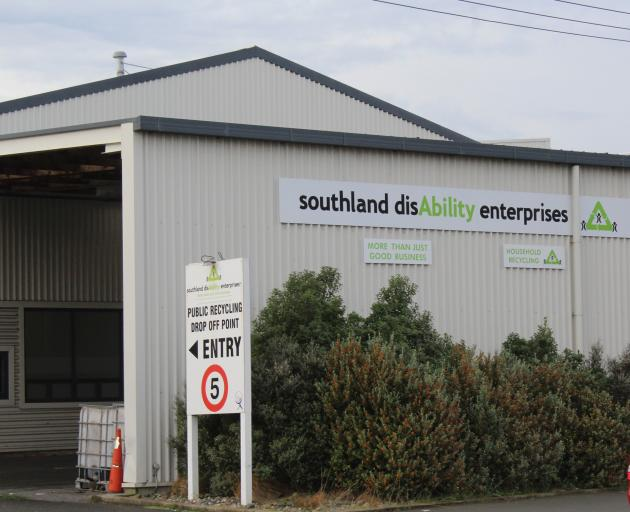 Southland disAbility Enterprises announced to their workers today that it is likely they will lose their contract with WasteNet Southland, potentially leaving disabled workers without jobs. Photo: Abbey Palmer