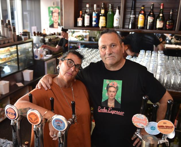 Sue Moller and Steve Wilson have been through a lot and now their Dunedin cafe faces an uncertain future. Photo: Gregor Richardson