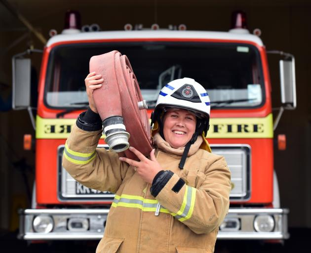 Jude Patterson is the first female chief fire officer in the Lawrence brigade's 127-year history. Photo: Peter McIntosh