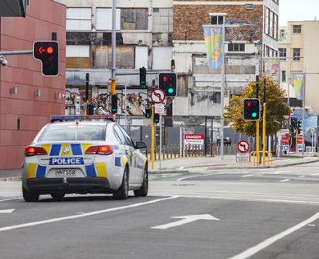 Police on patrol in Lichfield St. Photo: Geoff Sloan