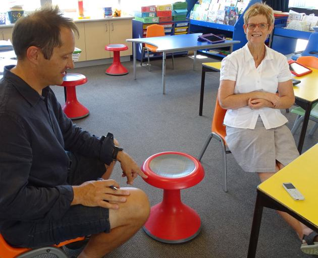 Wanaka Primary School assistant principal Jason Cowan and specialist literary teacher Kit South...