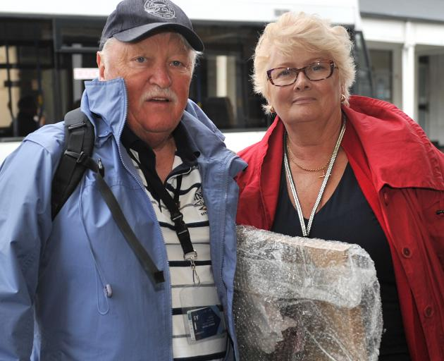 Celebrity Solstice passengers Ron and Jan Taylor, of Australia, are enjoying their holiday but...