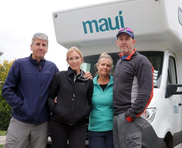 Peter and Tanya Sale and Dean and Lisa Saul are desperately hoping to return to the Gold Coast...