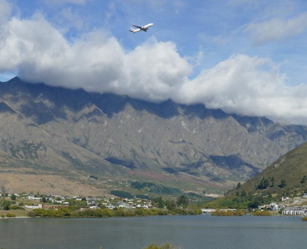 Virgin flight VA9552, bound for Brisbane, takes off from Queenstown Airport just after 5pm on...