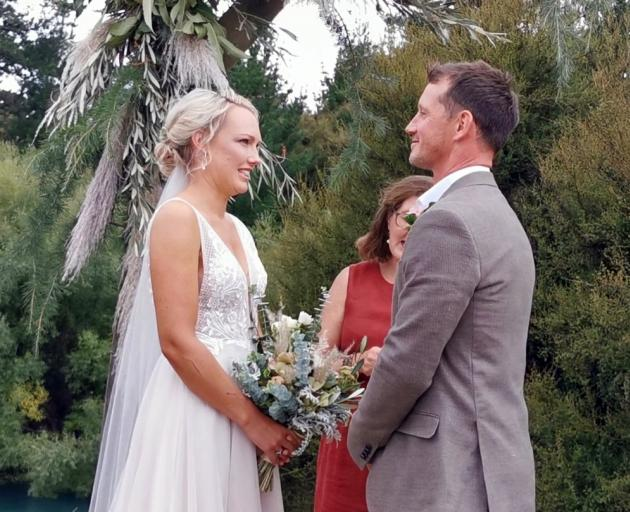 Hamish Stewart, son of an All Black, marries Courtney Smith, granddaughter of an All Black.