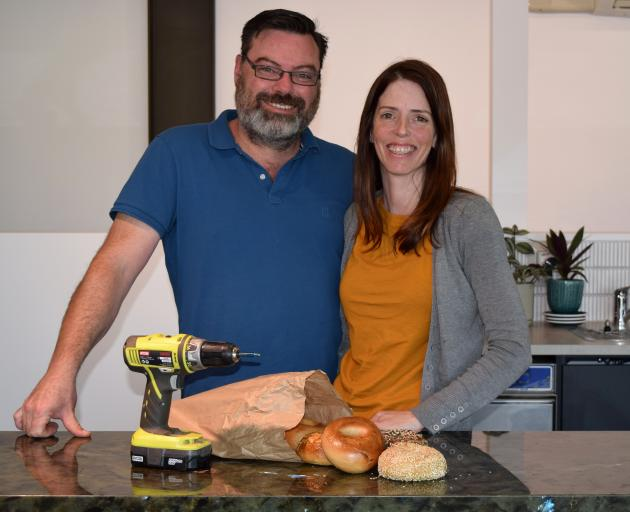 Beam Me Up Bagels co-owners Chris and Ellen MacGregor are preparing to open another shop in Dunedin tomorrow. PHOTO: SHAWN MCAVINUE