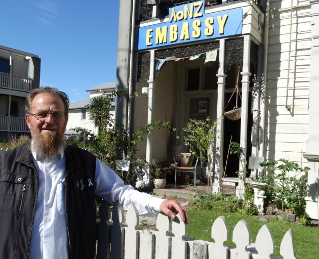Paul Gourlie of the AoNZ Embassy and peace garden in Albany St says there has been an awakening in New Zealand in the wake of last year's Christchurch mosque terror attacks. PHOTO: BRENDA HARWOOD