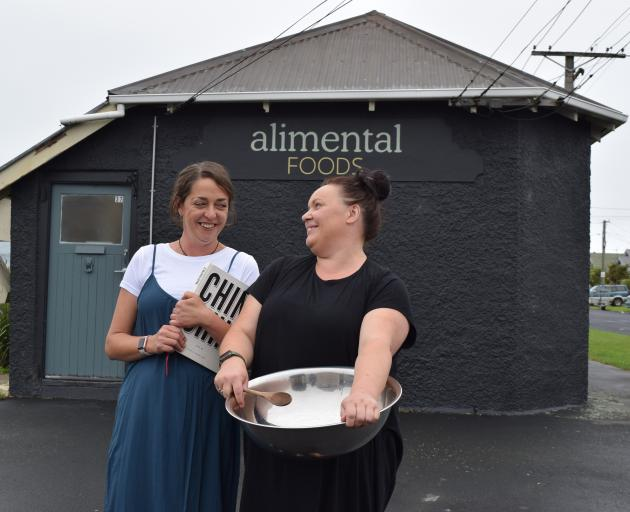 Alimental Foods co-owners Hayley Harris (left) and Sheryl Hellyer run their catering business...