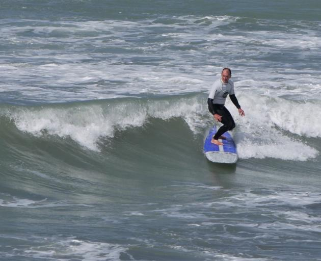 New Brighton's Ron Carter won the over-70s section. Photo: Jan Everitt