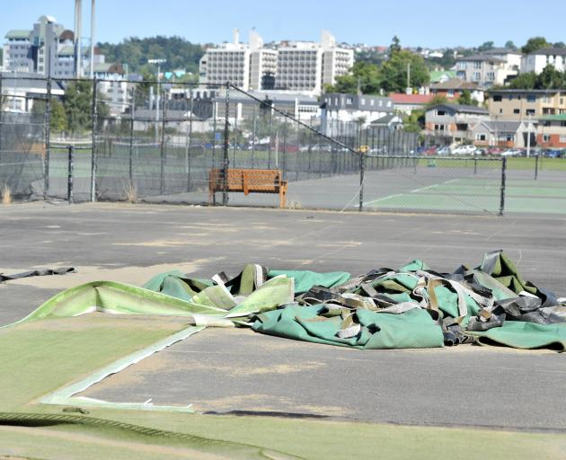 Court artificial turf is being ripped up as a $1.7 million upgrade ...