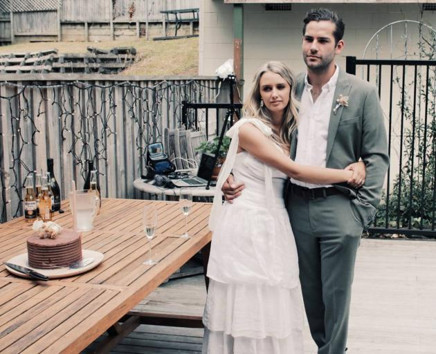 Their honeymoon will have to wait, with a four-week lockdown to begin at 11.59pm on Wednesday. Photo: Supplied via NZ Herald