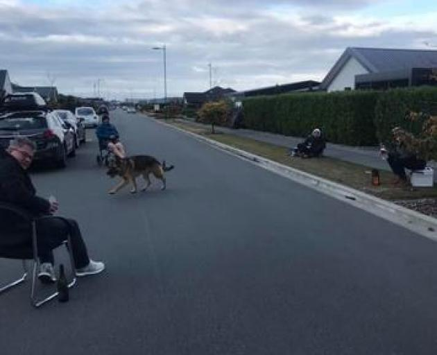 This photo posted on the Wigram Skies Community Page on Facebook shows residents taking part in a...
