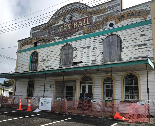The Runanga Miners' Hall is associated with the early days of the Labour Party.