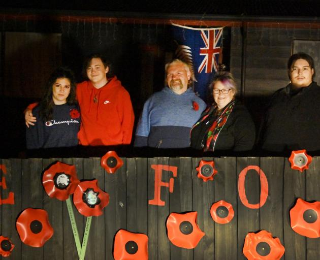 From left: Cayla Hosking, Zachary Nunn , Craig Pollock, Wendy Ross, Kiegan Booth, outside their...