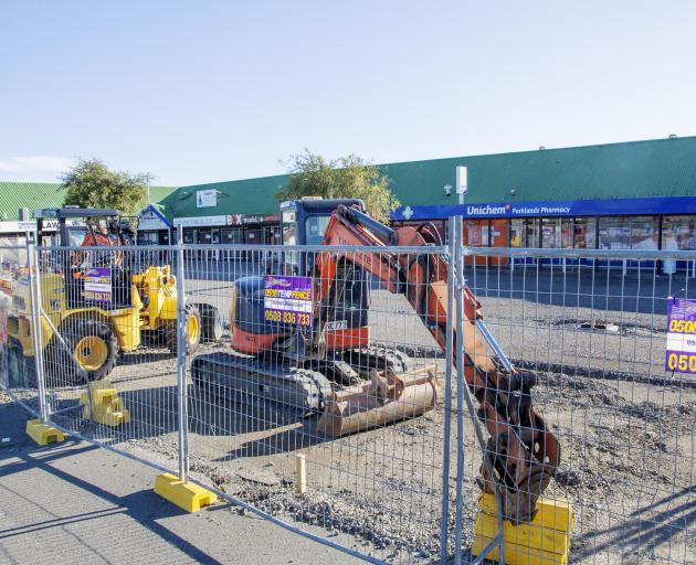 Redevelopment on hold at the Parklands Shopping Centre.