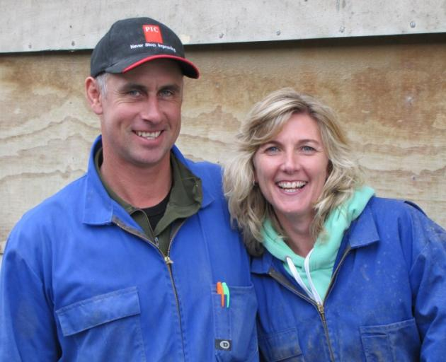 Pig In A Box option ... Le Mee Farm owners Hamish and Vicki Mee.PHOTO: ALLIED PRESS FILES