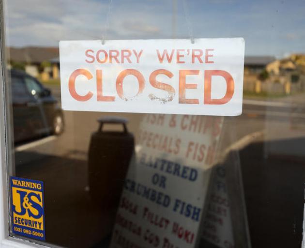 Fish and chip shops are closed under the Covid-19 lockdown. Photo: RNZ / Nate McKinnon
