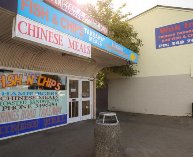 A closed fish and chip shop during the Covid-19 alert level four lockdown. Photo: RNZ / Nate...
