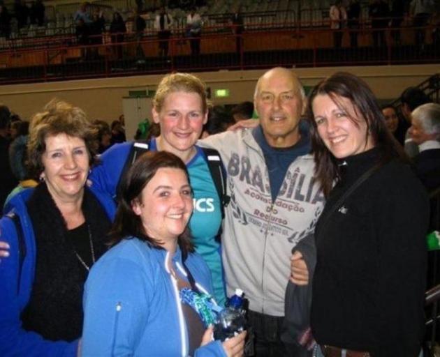 The Hutton family after the last National Bank Cup final in 2007 - won by the Steel - (from left)...