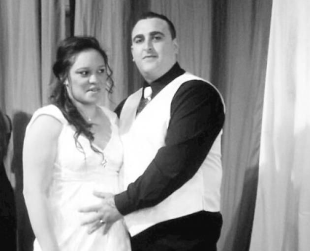 Cody Ayers with wife Maeroa Ayers on their wedding day six years ago. Photo: Supplied
