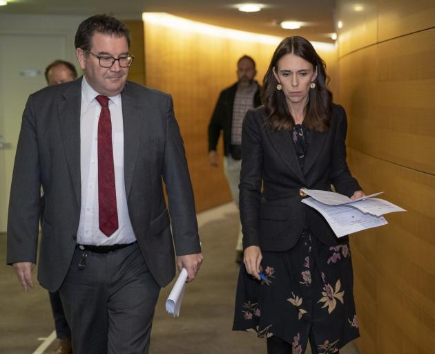 Grant Robertson and Jacinda Ardern. Photo: Getty Images